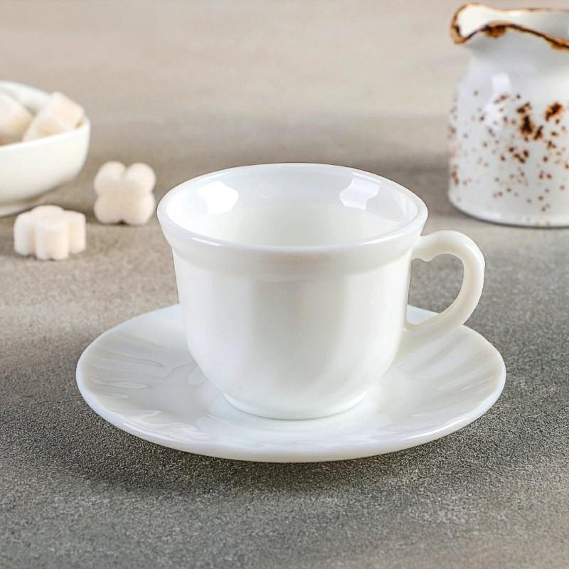 Чайный сервиз 12 предметов белый HLS 190 мл (7402)
