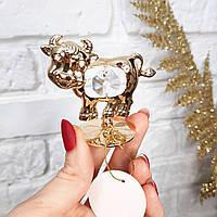 """Статуэтка """"Бык"""" маленький. Crystal Temptation с 1 кристаллом Swarovski. символ 2021 года"""
