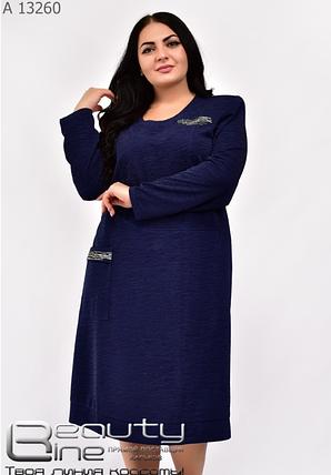 Платье трикотажное батал Размеры: 60.62.64.66., фото 2