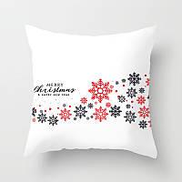 Декоративная подушка - Снежинки Merry Christmas