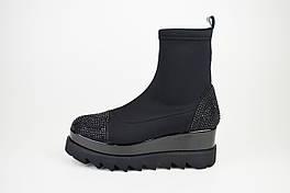 Ботинки осенние DD 2412 стрейч черные