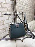 Женская сумочка комбинированная нат.замша/кожзам, фото 7