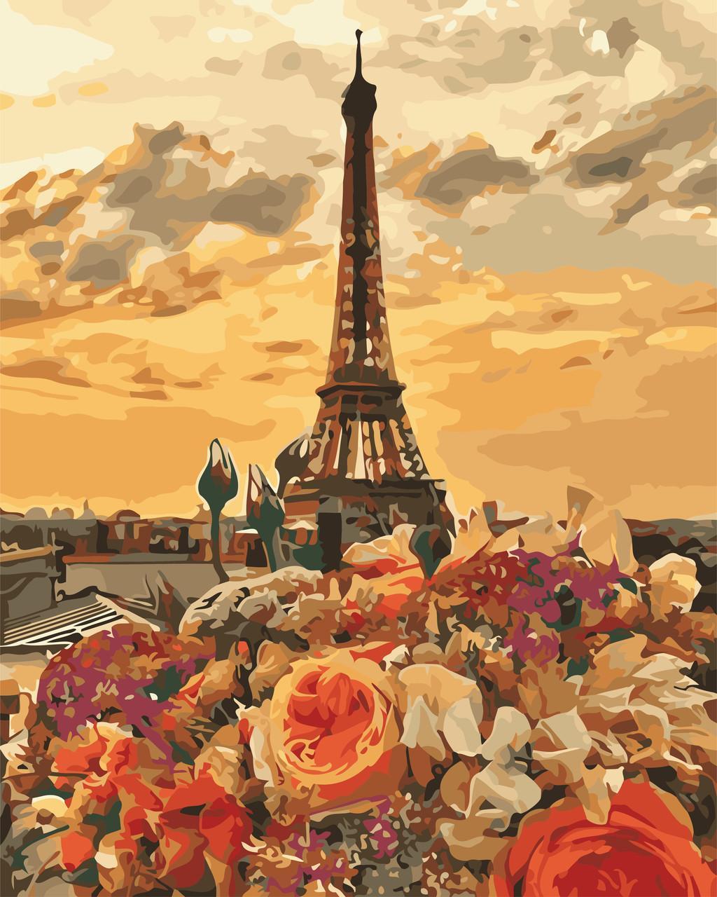 Картина рисование по номерам ArtStory Вечірній Париж 40х50см AS0659 набор для росписи, краски, кисти, холст