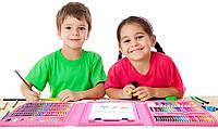 Детский набор для детского творчества с мольбертом 208 предметов, ОРИГИНАЛ