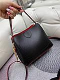 Женская сумочка комбинированная нат.замша/кожзам, фото 6