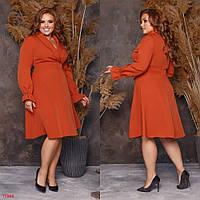 """Элегантное женское платье с отложным воротом, ткань """"Креп-костюмная"""" 50, 58, 60 размер 50"""