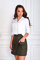 Женская мини юбка с высокой посадкой, фото 1