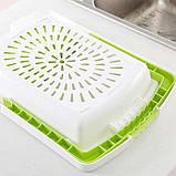 Кухонная разделочная доска на раковину Dish washing 3 в 1, фото 4