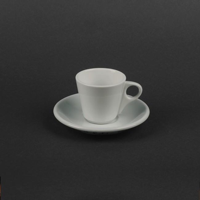 Маленькая белая чашка 70 мл с блюдцем HLS (HR1323)
