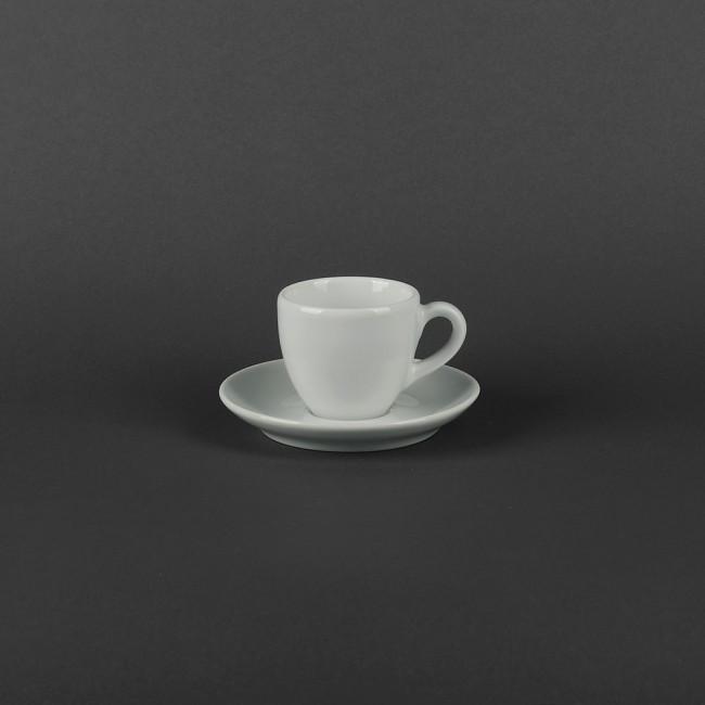 Чашка фарфоровая 80 мл с блюдцем 120 мм Aida Lubiana (490,491), польская ресторанная посуда