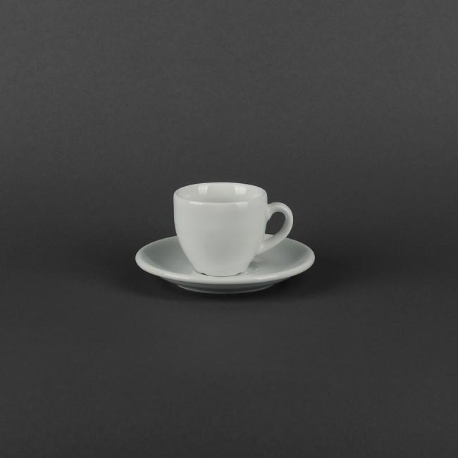 Чашка фарфоровая для кофе 90 мл с блюдцем Albergo Lubiana (1983,1984)