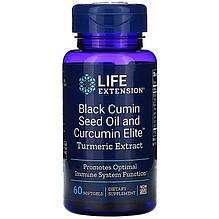 "Черный тмин и куркума Life Extension ""Black Cumin Seed Oil and Curcumin Elite Turmeric Extract"" (60 капсул)"