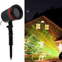 Проектор лазерный Laser Shower Light 908 8001 Новогодний лазерный проектор для улицы и на фасад дома круглый