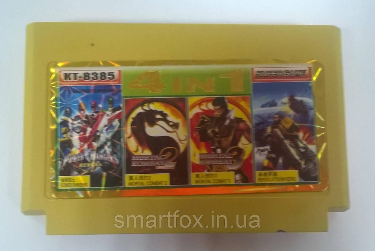 4 в 1 Mortal Kombat 3  / Mortal Kombat 2 / Power Ranger / Revolution Картридж Денди ( бит) Картридж Денди