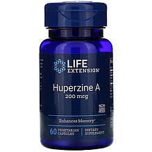 "Гуперзин А, Life Extension ""Huperzine A"" антиоксидант для мозга, 200 мкг (60 капсул)"