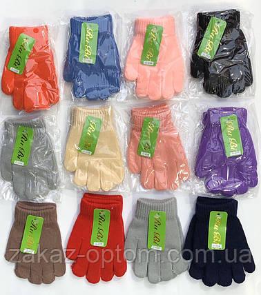 Перчатки детские оптом однотонные(3-5лет)Китай А308-63272, фото 2
