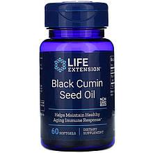 "Масло семян черного тмина Life Extension ""Black Cumin Seed Oil"" 500 мг (60 гелевых капсул)"