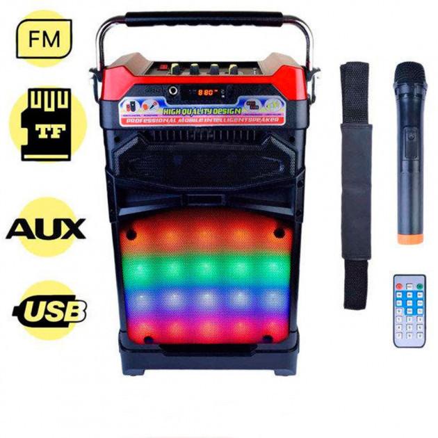 Радиоприёмник колонка NNS NS-1389 в виде чемодана с микрофоном