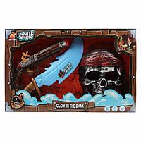 Набір пірата для хлопчика, зі світловим мечем і звуковими ефектами B6608-3
