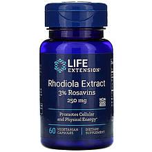 """Экстракт родиолы розовой Life Extension """"Rhodiola Extract"""" 250 мг (60 капсул)"""