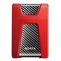 Жорсткий диск зовнішній HDD ADATA 1 TB HD650 Red (AHD650-1TU31-CRD)