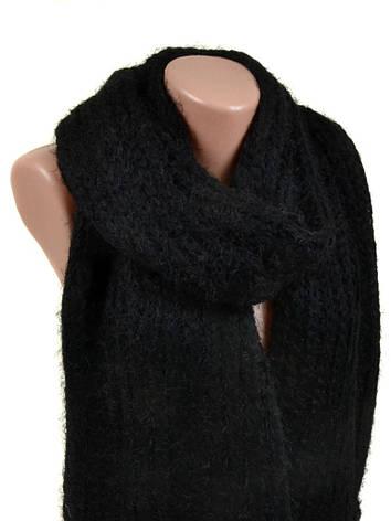 Шарф Жіночий Осінь-Зима Віскоза M0413 black Розпродаж, фото 2