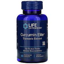 """Экстракт куркумы Life Extension """"Curcumin EliteTurmeric Extract"""" быстроусваиваемый, 500 мг (60 капсул)"""