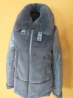 Куртка зимняя с большим воротом из меха в размере 44-50