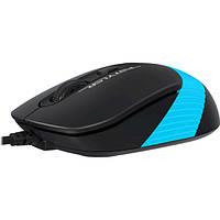 Мишка USB класична A4Tech Fstyler FM10 Black/Blue
