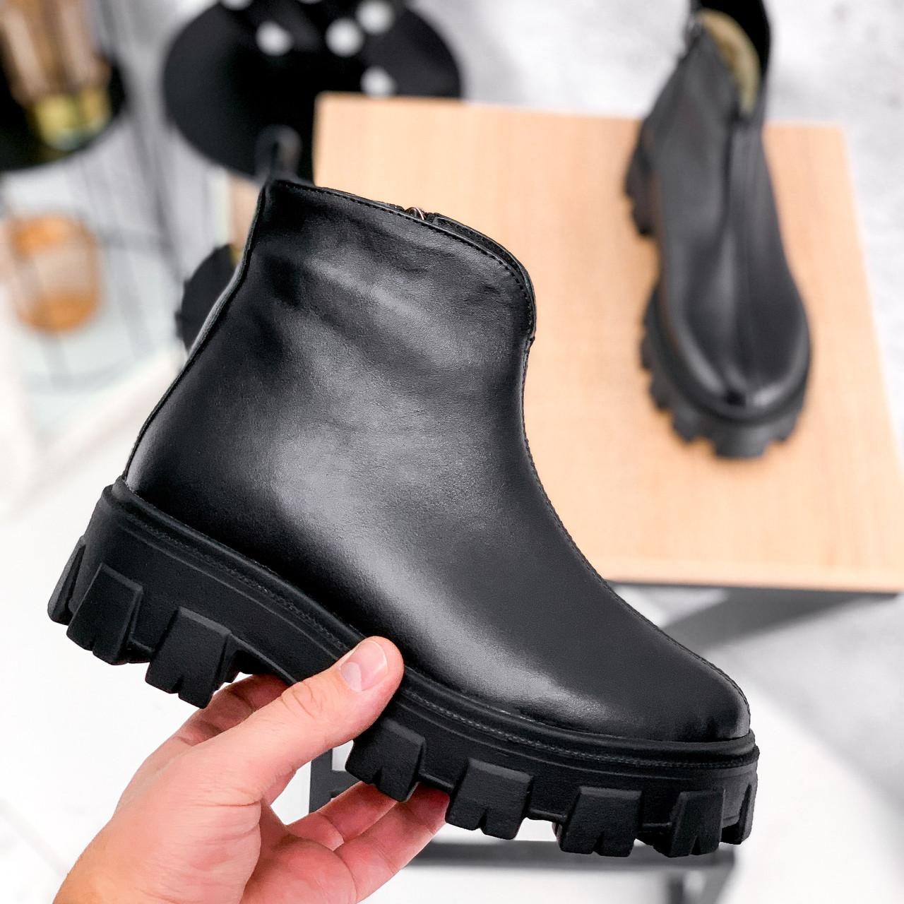 Ботинки женские Elias черные ЗИМА 2421