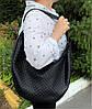 613-3 Натуральная кожа Объемная сумка женская бежевая Кожаная сумка-мешок Кофейная кожаная сумка на плечо хобо, фото 5