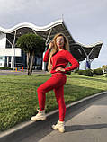 Женский вязаный костюм с люрексом, в красном цвете,р.42/46, фото 4