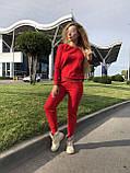 Женский вязаный костюм с люрексом, в красном цвете,р.42/46, фото 6