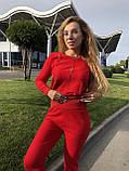 Женский вязаный костюм с люрексом, в красном цвете,р.42/46, фото 5