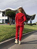 Женский вязаный костюм с люрексом, в красном цвете,р.42/46, фото 8