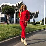 Женский вязаный костюм с люрексом, в красном цвете,р.42/46, фото 2