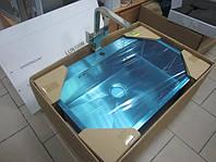 Мойка кухонная из нержавеющей стали AquaSanita  Luna 100M 51x79x20