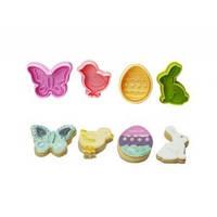 Плунжер для мастики (бабочка ,зайчик,яйцо )4 шт (код 01721)
