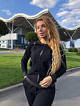 Женский вязаный костюм с люрексом, в черном цвете,р.42/46