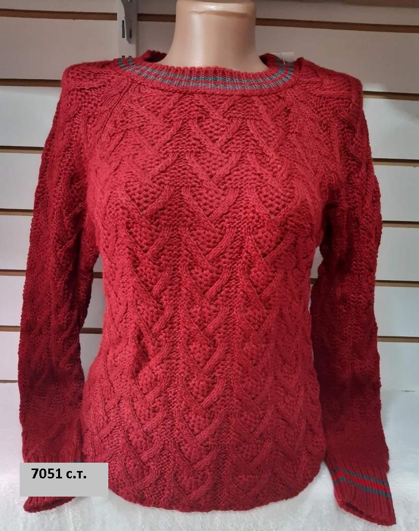 Вязаный женский свитер 7051 с.т.