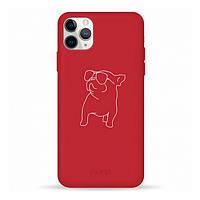 Накладка для iPhone 11 Pro Max Pump Silicone Minimalistik Pug With