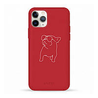 Накладка для iPhone 11 Pro Pump Silicone Minimalistik Pug With