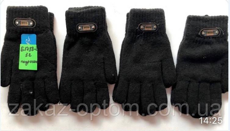 Перчатки подростковые двойные оптом Китай Е1738-2-63316, фото 2