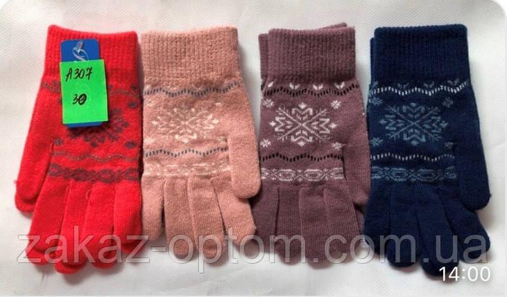 Перчатки подростковые оптом Китай А307-63321, фото 2