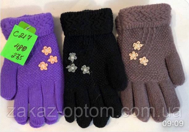 Перчатки детские оптом(4-6лет)Китай С217-63324, фото 2