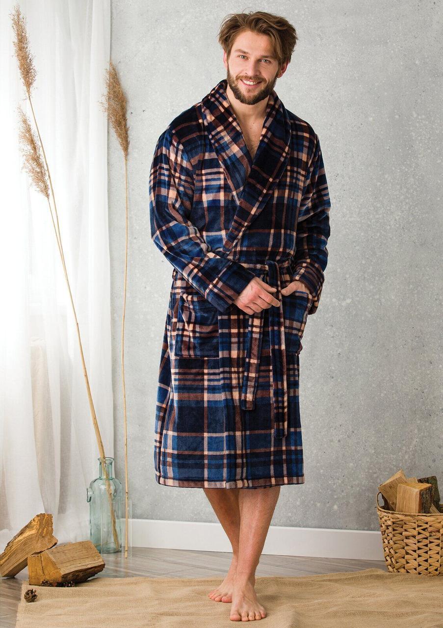 Теплый ,уютный мужской халат .Польша.Оригинал. Подарочная упаковка!