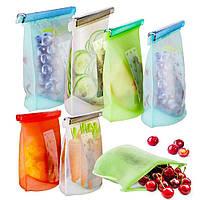 Многоразовый мешок силиконовый для хранения продуктов, фото 1