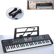 Детское пианино-синтезатор MQ022UF 61 клавиша, FM, MP3, USB вход, микрофон, работает от сети