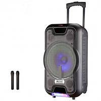 Беспроводная колонка чемодан Ailiang UF-2112, активная акустика, комбоусилитель + микрофон