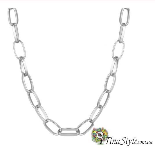 Колье Чокер на шею  цепь цепочка серебро цвет Подвеска Choker